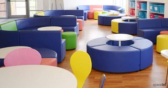 weather head school royal blue modular cubes