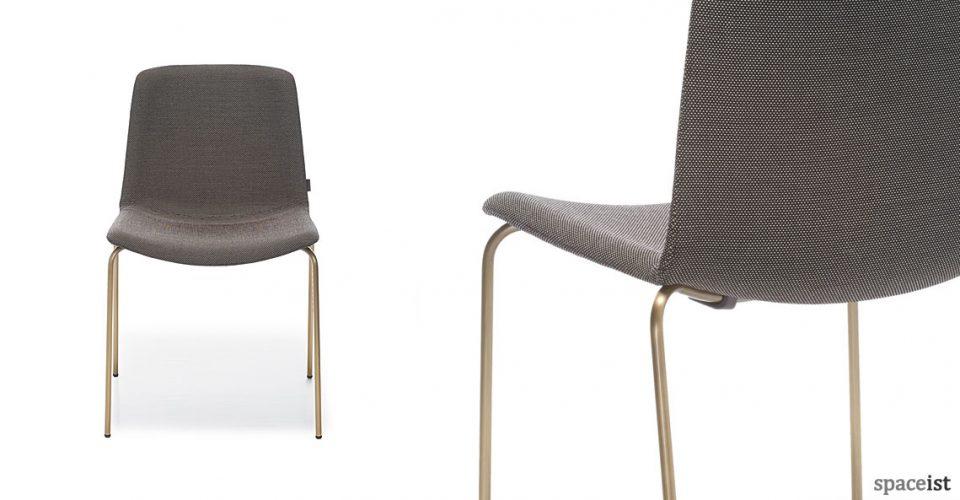 Weet chair with a antique brass leg