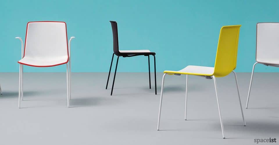 Weet chair in red, yellow and black