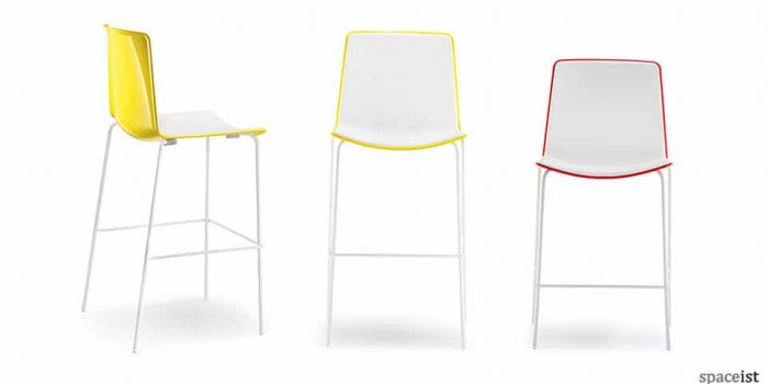 weet yellow red and black designer bar stools