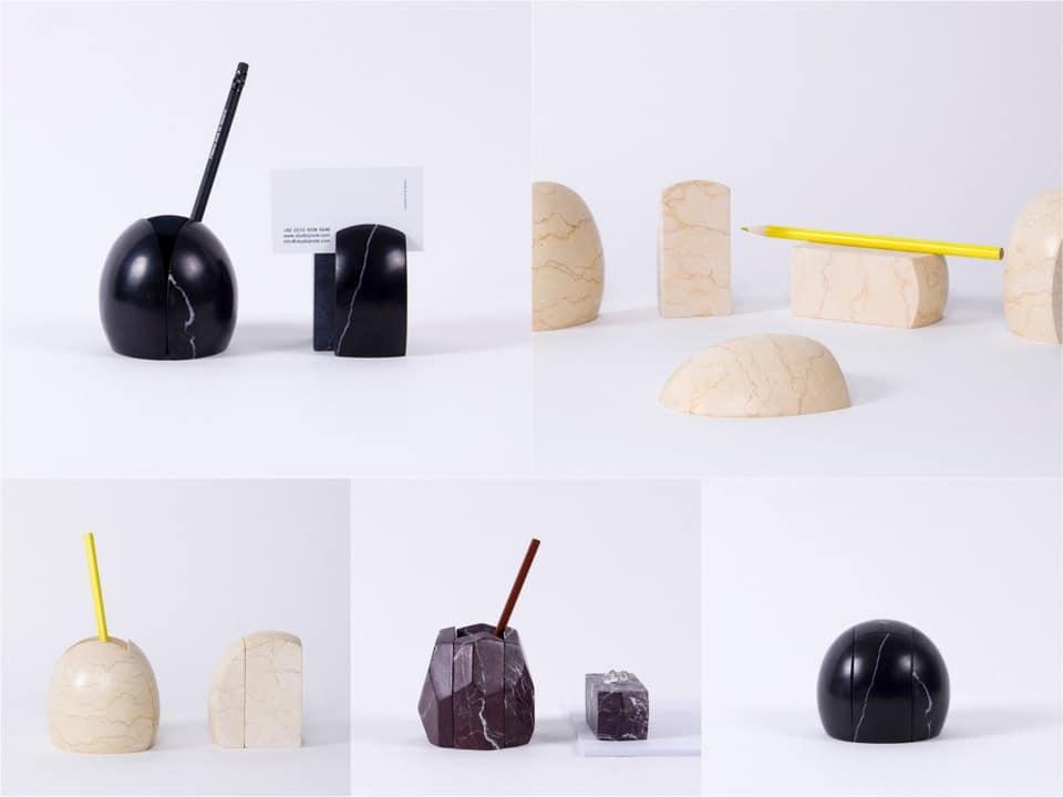 stoneage desk accessories organiser