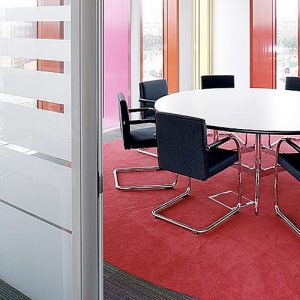 eames round white meeting tables