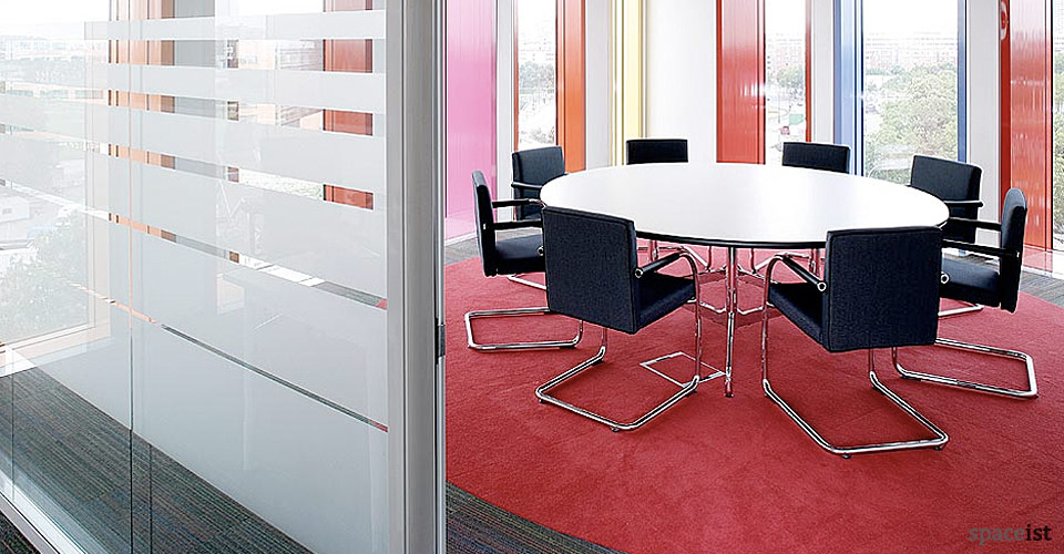 eames round white meeting tables