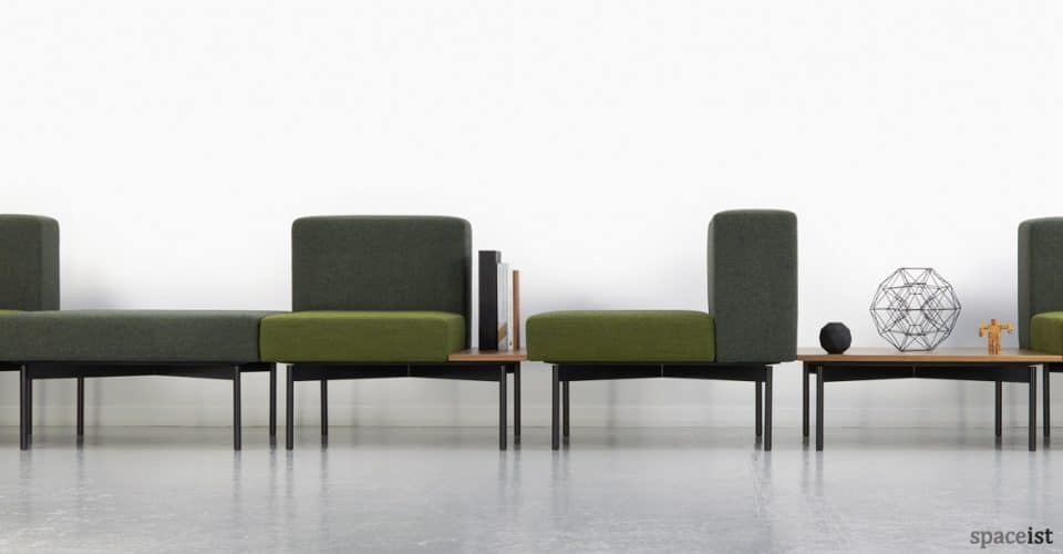 102 retro modular sofa in green fabric