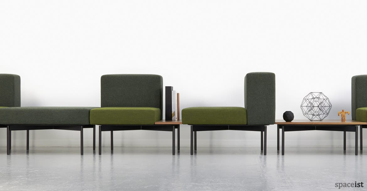 office reception furniture designs. 102 retro modular sofa in green fabric office reception furniture designs