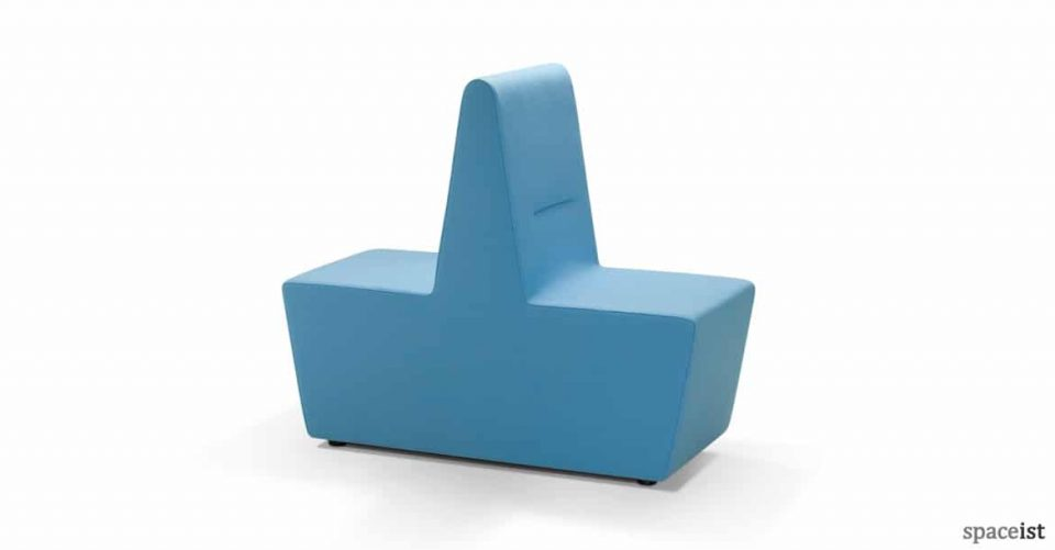 221 double reception seat in blue