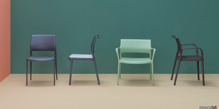 Ara black cafe chair