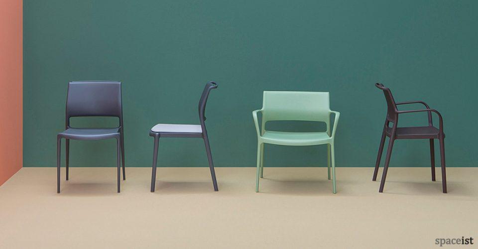 Ara black cafe chair