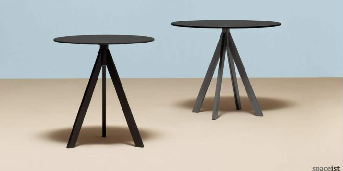 Ark industrial cafe table in black