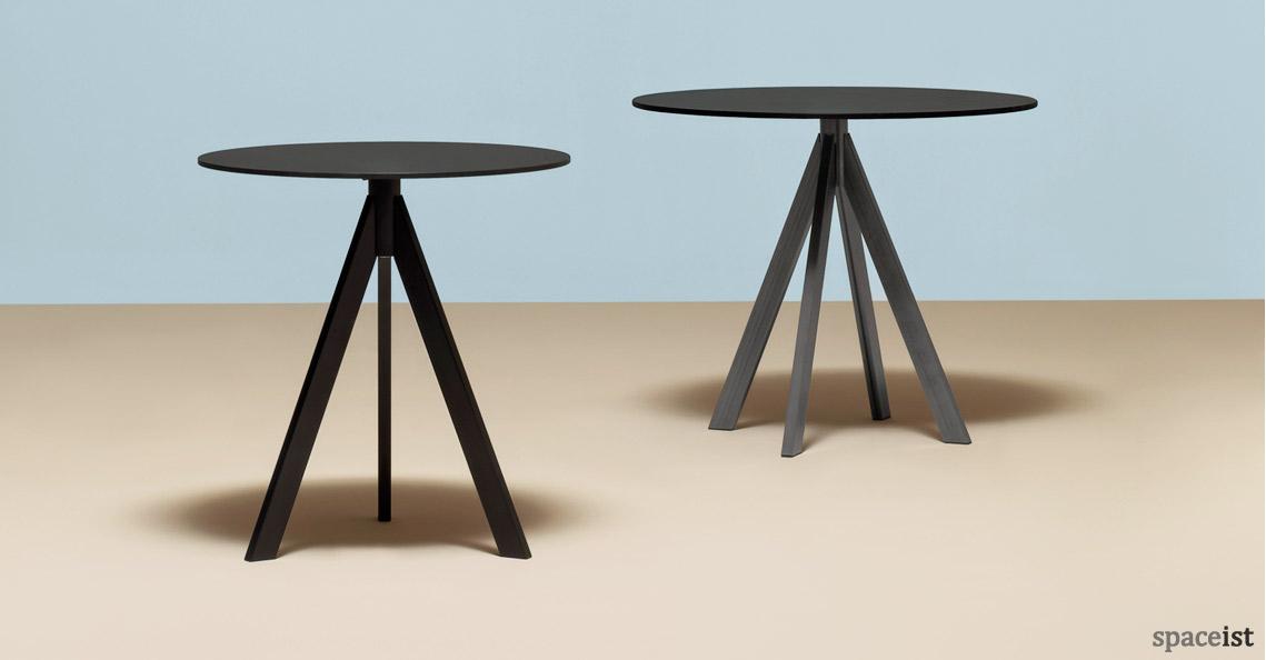 Ark Industrial Cafe Table In Black