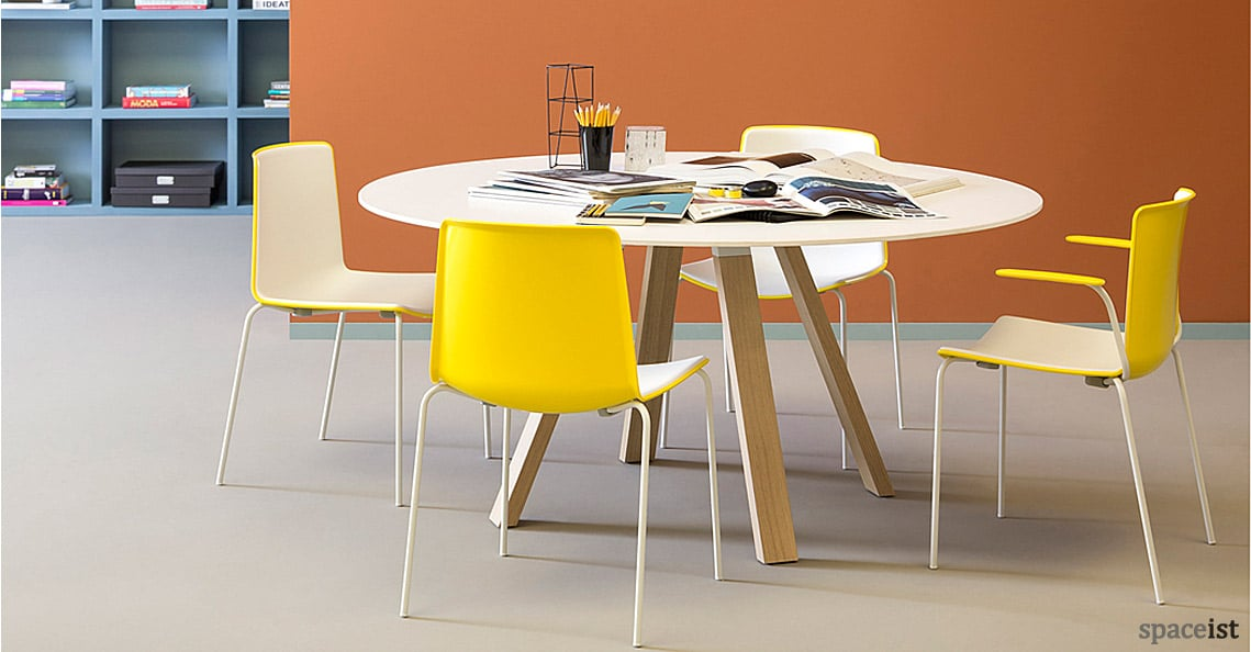 round meeting tables   ark oak table