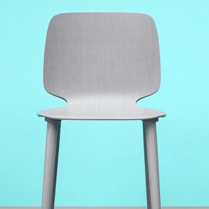 Babila grey stained wood cafe chair