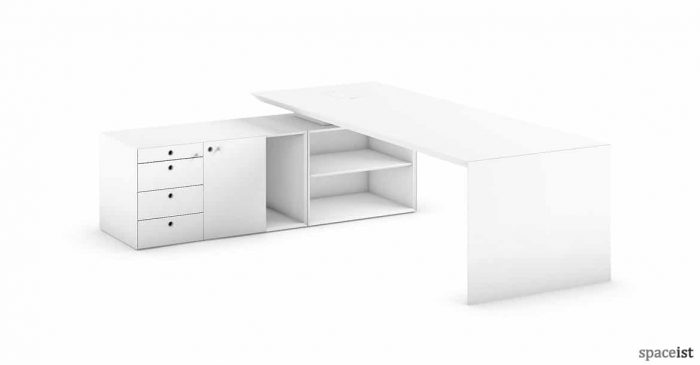 CEO managerial desk with return