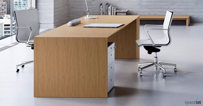 CEO cedar wood 240 cm directors desk