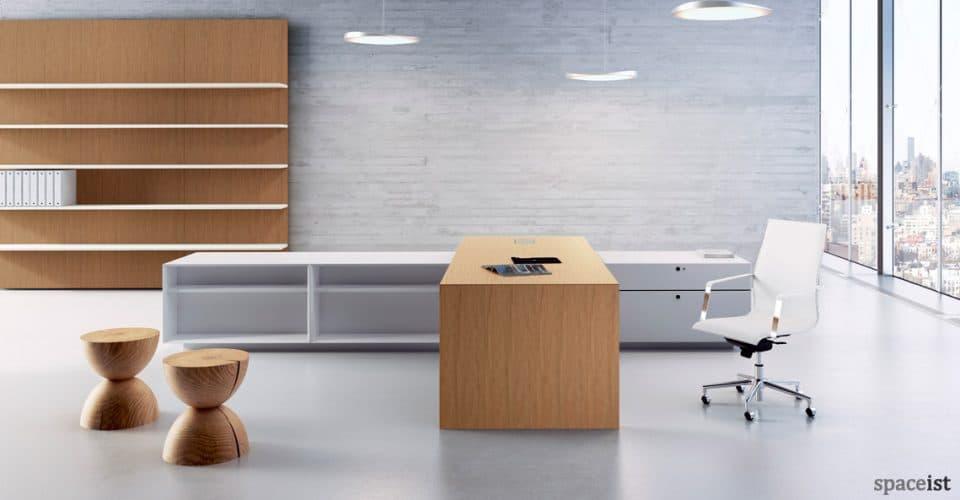 CEO cedar wood large directors desk