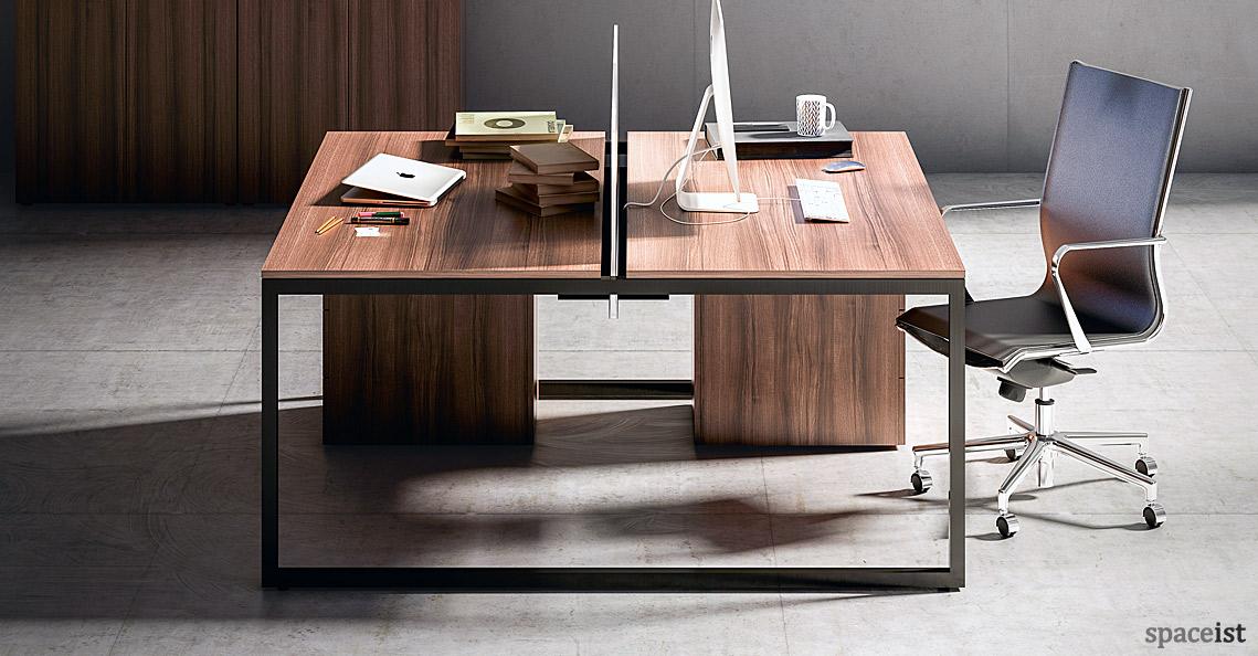Office desks frame walnut desk - Walnut office desk ...