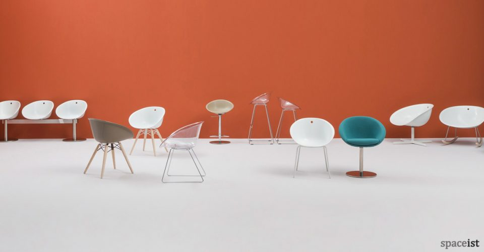 gliss white designer cafe chairs