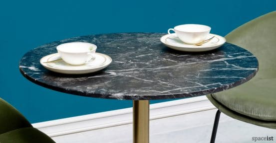 Icon black marble cafe table top