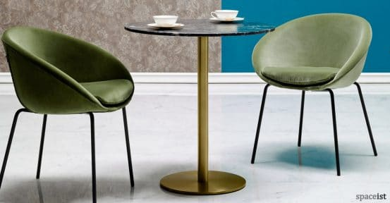 Icon Black marble and brass cafe table