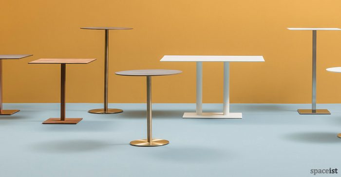 Inox cafe table range