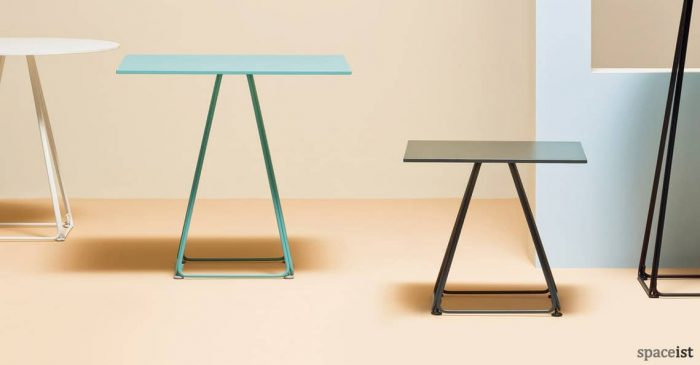 Luna pyramid style cafe table in green and black