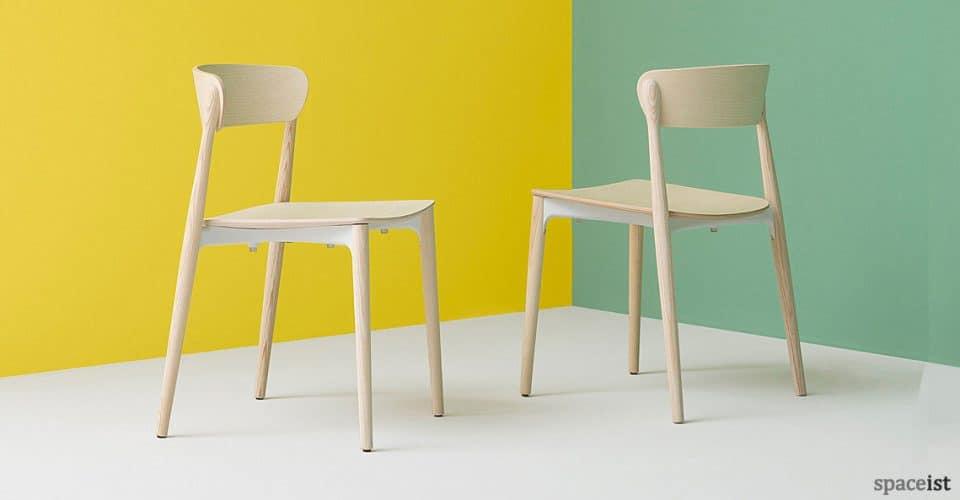 Nemea stylish wood cafe chair