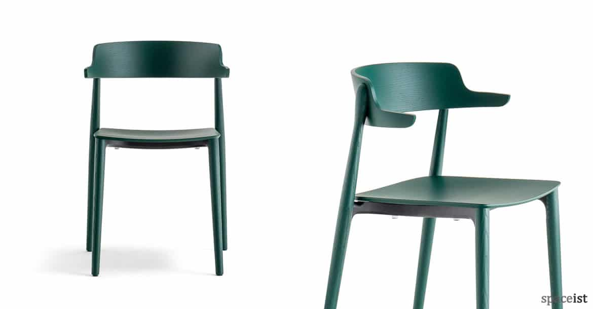 wood cafe chairs nemea wood chair green