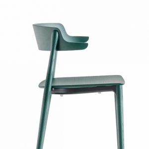 Nemea green stained cafe chair close-up