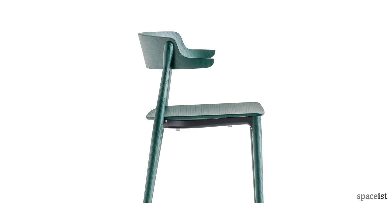 wood cafe chairs nemea wood chair green