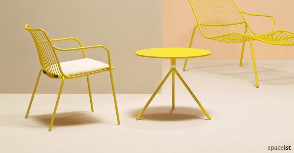 Nolita yellow outdoor low cafe table