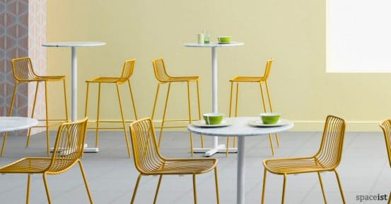 Nolita yellow steel wire cafe stool