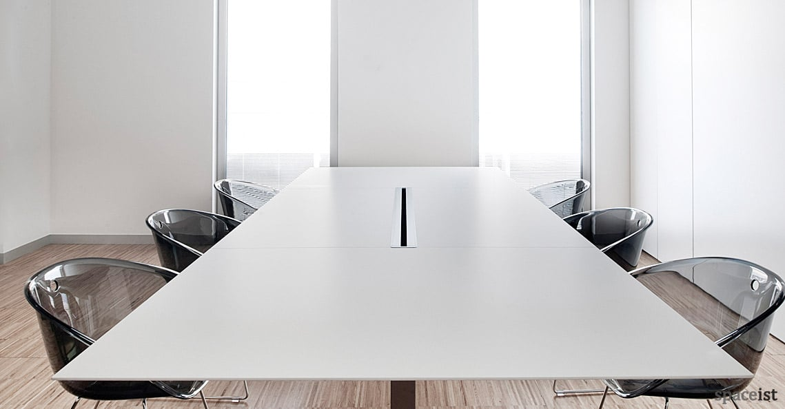 White Meeting Tables Plano 2 Table New