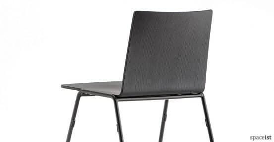Saka black industrial cafe chair