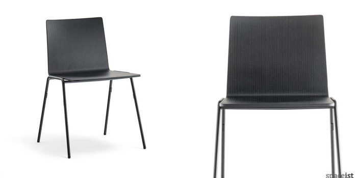 Saka black industrial cafe chair