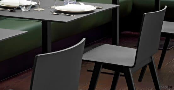 Saka wood chairs in a black stain