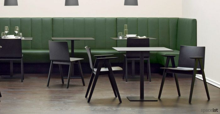Saka wood chairs in a black with arms