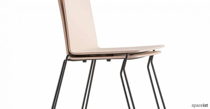 Saka industrial wood stacking cafe chair