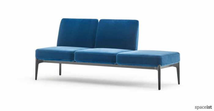 Social modular blue reception sofa