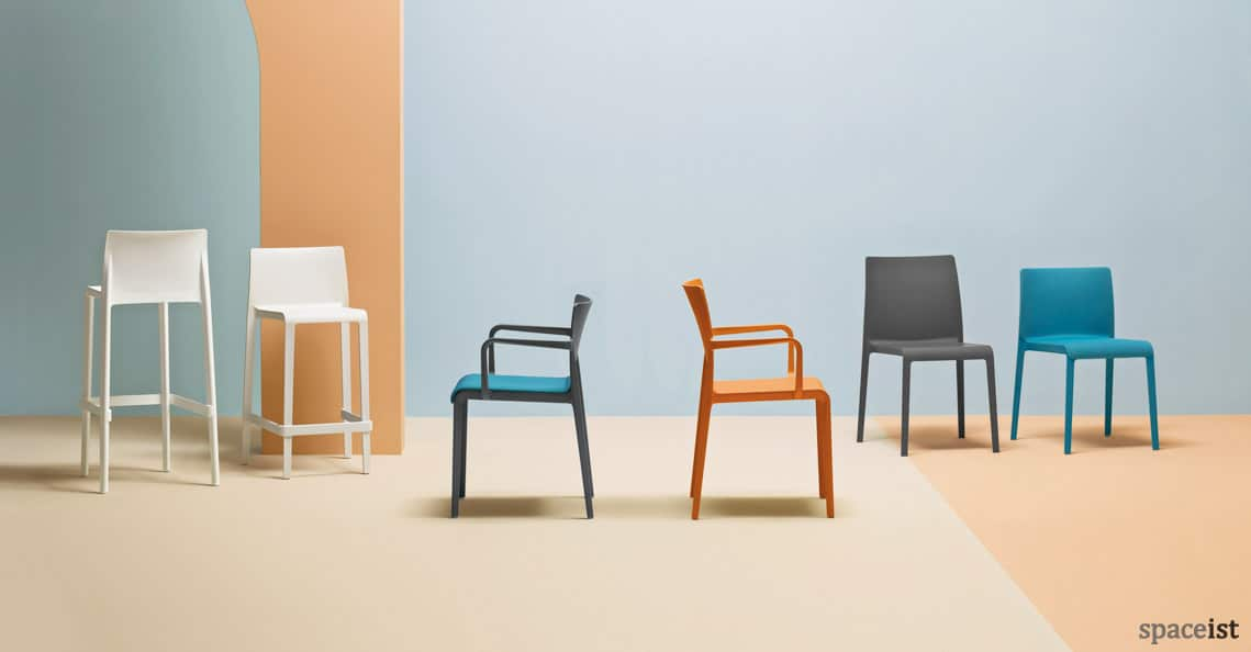 Colourful Cafe Chairs Volt Chair New
