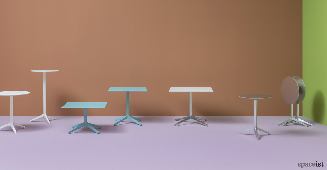 Cafe furniture ypsilon round tables for Table ypsilon