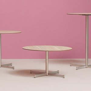 zenith round steel cafe tables