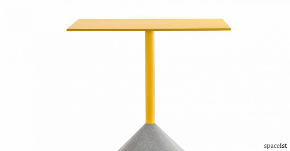 Concrete square outdoor cafe table