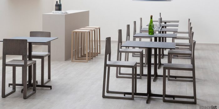 laj stylish black square cafe tables