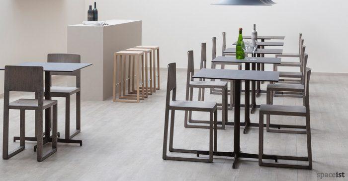 laj stylish black square cafe tables