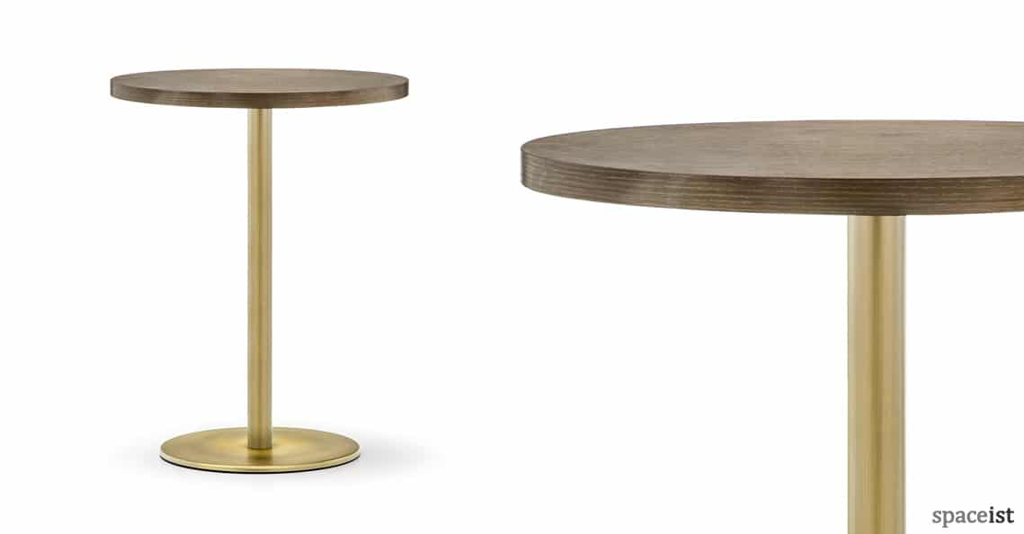 round cafe tables inox brass table new. Black Bedroom Furniture Sets. Home Design Ideas