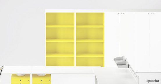 meta bright yellow office cabinet
