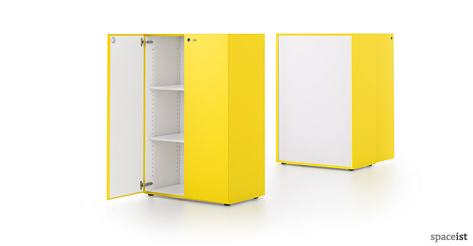 meta bright yellow office cabinet