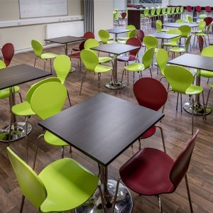 Prince Henry School wood square cafe tables