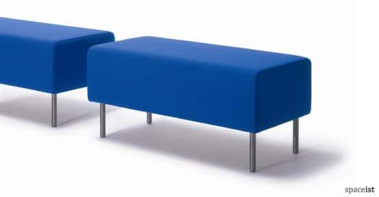 18 bright blue fabric ottoman stools