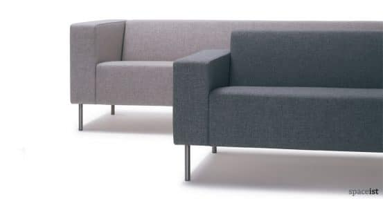 18 grey office reception sofas
